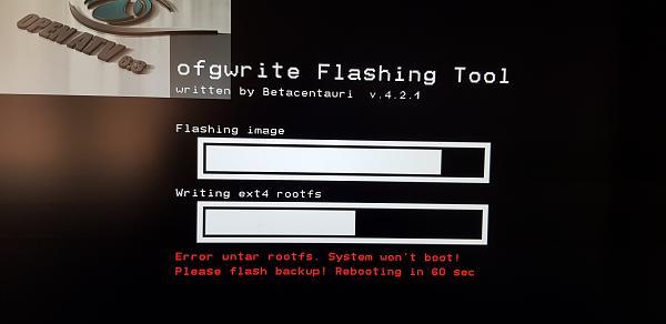 "UNO4k Flash Problem / Fehler - Writing ext4 rootfs = ""error untar rootfs""-20190503_125023.jpg"